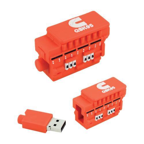 QSK95 Bespoke PVC USB stick 8gb | Desk Products | Cummins Promotional